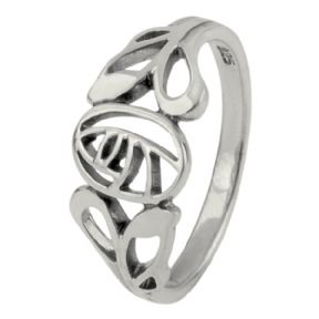Mackintosh Glasgow Rose Silver Ring 0389